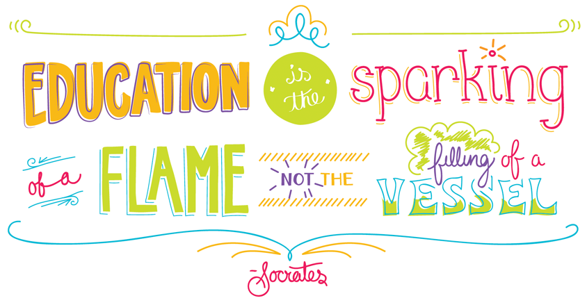 Education is the sparkling of a flame, not the filling of a vessel
